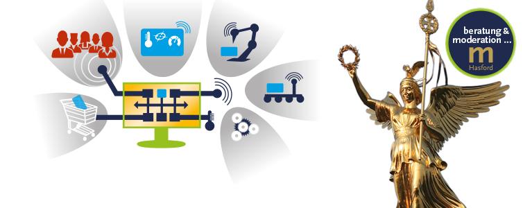 Digitalisierung im Mittelstand ist die Umschreibung der Geschäfftsmodelle und Geschäftsprozesse für das Handeln des Mittelstandes in 2016.
