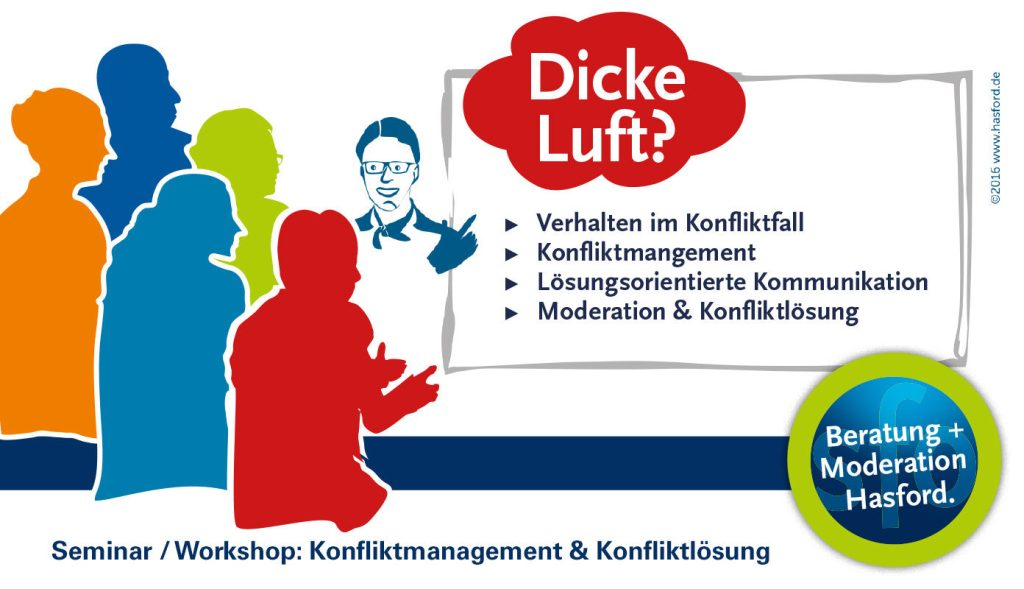 Moderation, Workshop, Seminar : Konfliktmanagement und Konfliktlösung