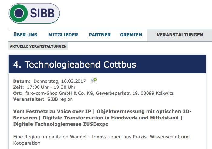 ISBB 4. Technologieabend Cottbus