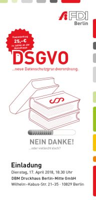 FDI Sonderveranstaltung zur DSGVO und Prozessoptimierung