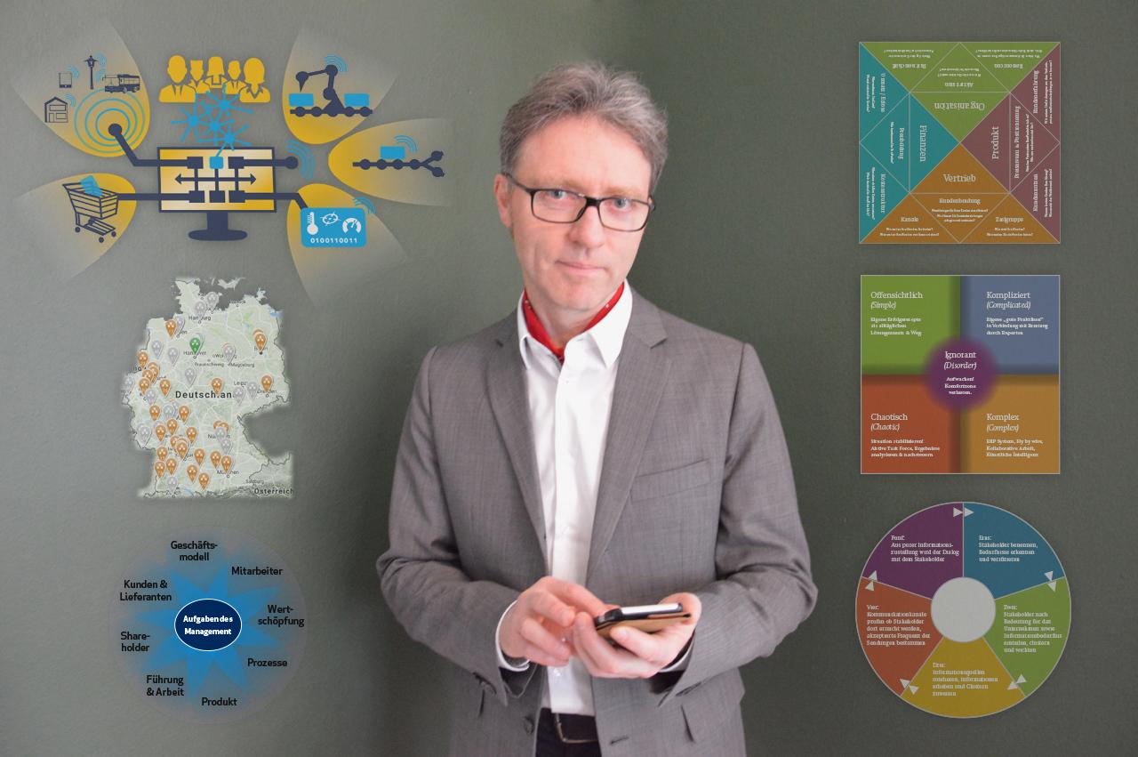 Business Moderator Ralf Hasford. Seine Themen: Unternehmensentwicklung, digitale Transformation