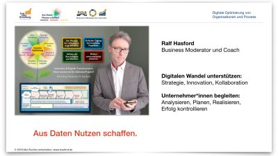 """Ralf Hasford – Moderation im Business: """"Gemeinsam schneller auf den Punkt.""""<br /> • Profitieren Sie von meiner Moderation bei Ihrem Workshop und Meeting, Diskussionen<br /> • z.B. bei den Themen: Strategie, Geschäftsmodell, Digitaler Wandel – Ziele und Aufgaben zu erarbeiten und zu definieren<br /> • Klarheit und konsequente Arbeit in Workshop und Meeting: Meine Moderation ist Wertschätzend + Transparent + Zielorientiert<br /> """"Was kann ich für Sie tun? Welche Themen sind es bei Ihnen, die meine externe Moderation wünschenswert macht um gemeinsam, schneller und zielgerichtet auf den Punkt zu kommen?"""""""