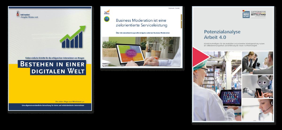 Ralf Hasford als Autor. Bestehen in einer digitalen Welt. (2016)  eBook / Paperback · 104 Seiten · ISBN 978-3-946473-99-2 Digitaler Wandel im Mittelstand: Sieben einfache Schritte für die erfolgreichen KMU-Unternehmer von Morgen.