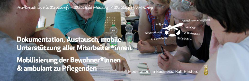 Strategie Meeting in der Pflege. Digitalisierung der Pflege