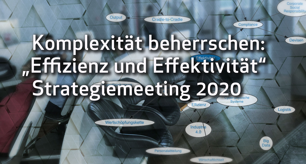 """Komplexität beherrschen: """"Effizienz und Effektivität"""", Strategiemeeting 2020"""