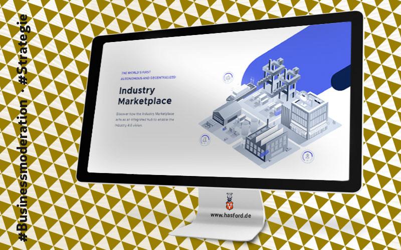 Hasford informiert über die Bussines Kommunikation IOTA Industry Marketplace