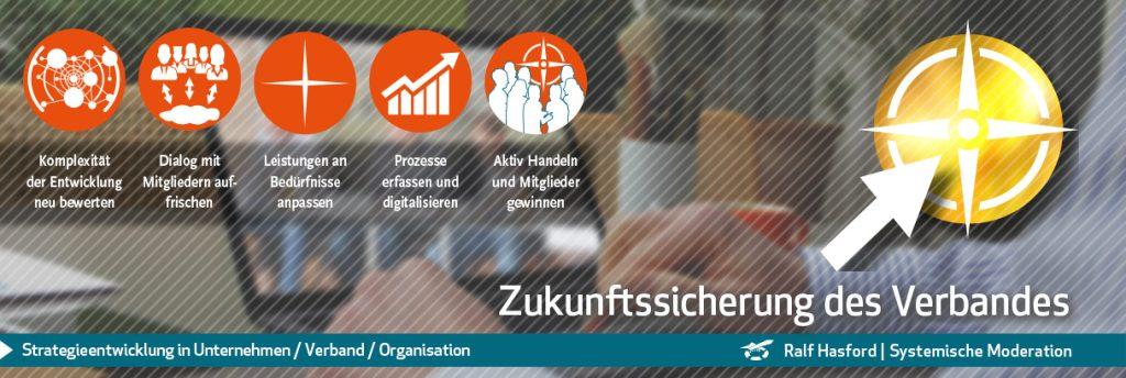 Ralf Hasford lädt ein zu Workshop und Beratung: Strategieentwicklung / Strategieplanung im Verband. Der Inhalt des Workshops und der Beratung reichen von den Grundlagen und Begriffen bis hin zur zielführenden Umsetzung im Verband.